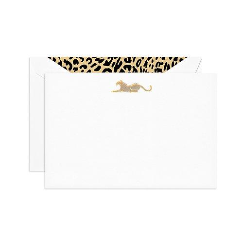 Engraved Leopard Correspondence Card