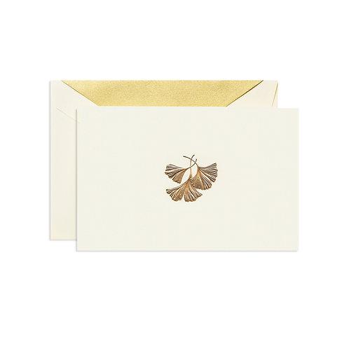 Hand Engraved Ginkgo Leaf Note