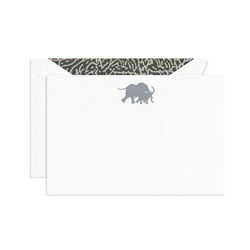 Engraved Elephant Correspondence Card