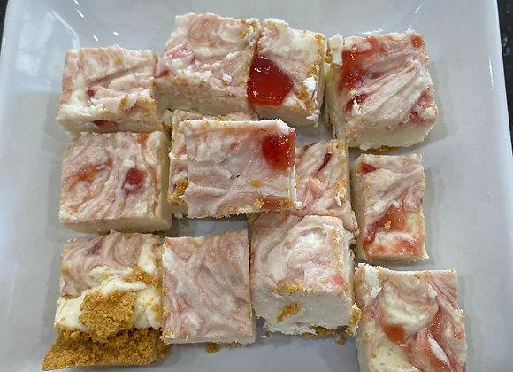 Strawberry Cheesecake Fudge