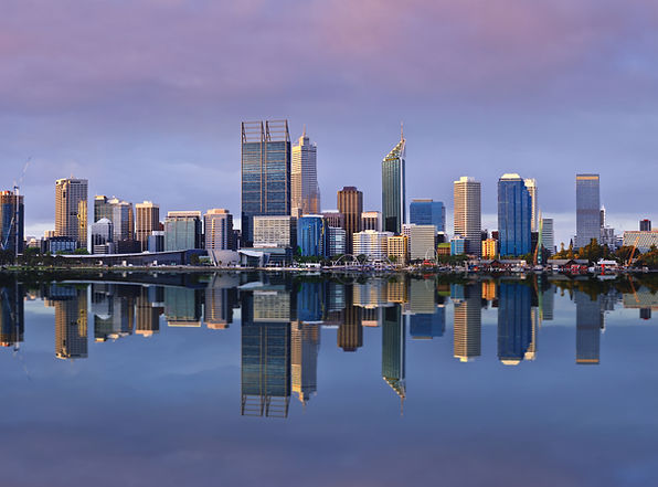Perth CBD from the Swan river