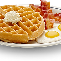 WAFFLE, EGGS, AND BACON