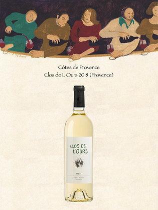Côtes de Provence Clos de L'Ours 2018 (Vin blanc)