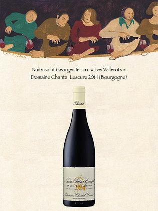 """Nuit Saint Georges 1er cru """"Les Vallerots"""", Domaine Chantal Lescure 2014 (Bourg)"""