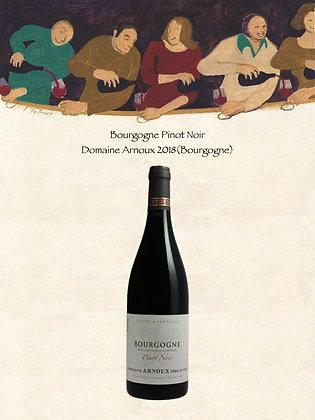 Bourgogne Pinot Noir Domaine Arnoux Millésime 2018 (Vin rouge)