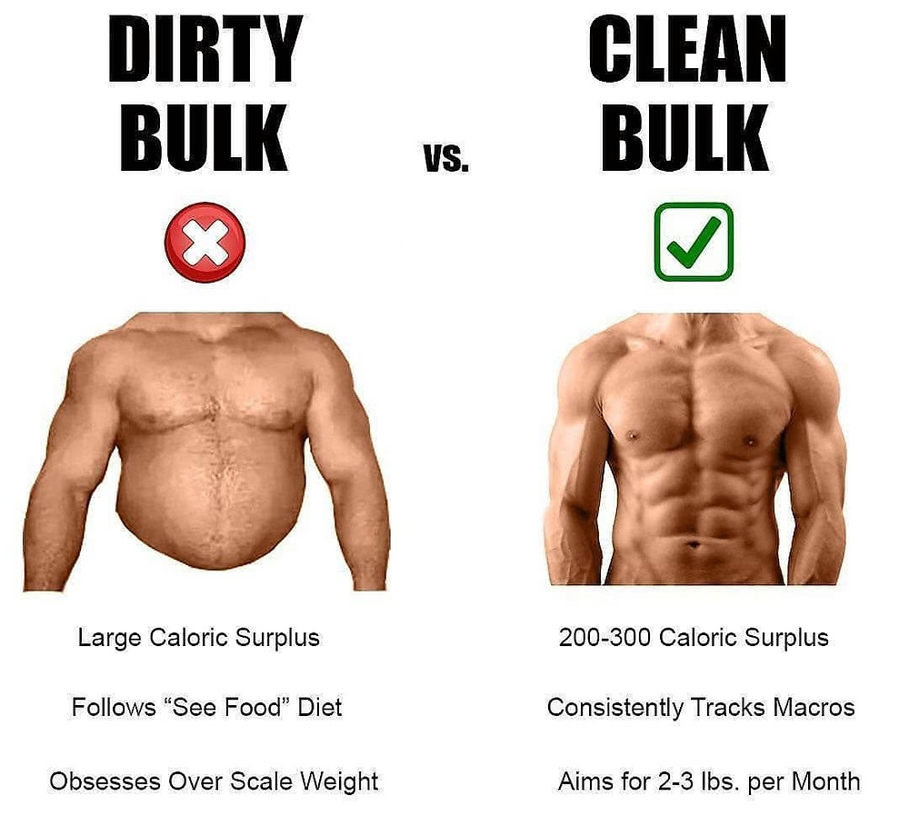 This is to show that a lean bulk is a better approach than a dirty bulk.