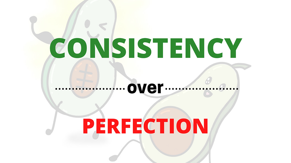 This image is to show that consistency is better than perfection.