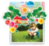 Foto de menina brincando no gramado onde será realizado o sonho da casa sustentável