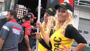 Truck racing grid girls