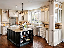 White cabinets with beautiful paneling