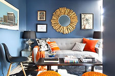 Bright, contrasting colors with fun art