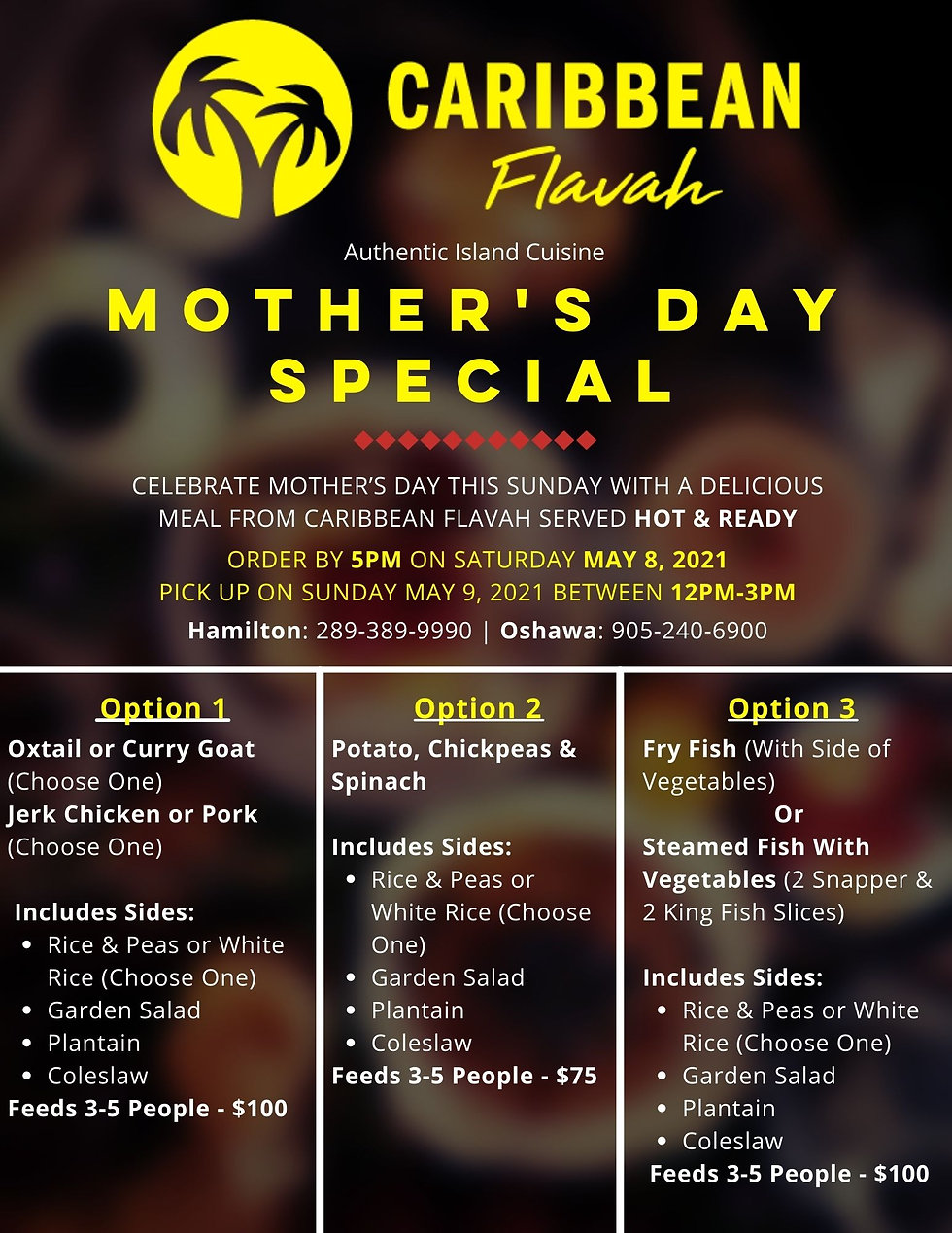 Caribbean Flavah Mother's Day Special Pr