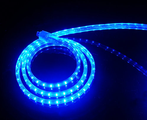 UL Listed, BLUE, 120 Volt Flat LED Strip Light, 3528 SMD LEDs