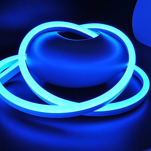 ETL Listed 120 Volt SMD LED Flex Neon Strip Light, BLUE