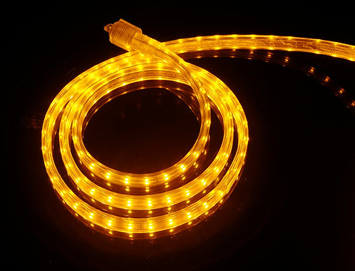 UL Listed, Yellow, 120 Volt Flat LED Strip Light, 3528 SMD LEDs