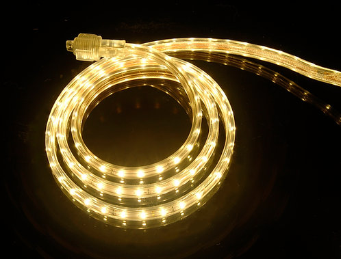 UL Listed, 3000K Warm White, 120 Volt Flat LED Strip Light, 3528 SMD LEDs
