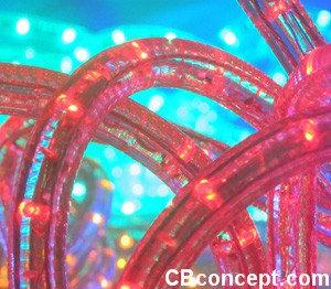 120v UL LED Rope Light - Red
