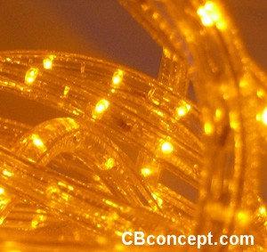 120v UL LED Rope Light -Yellow