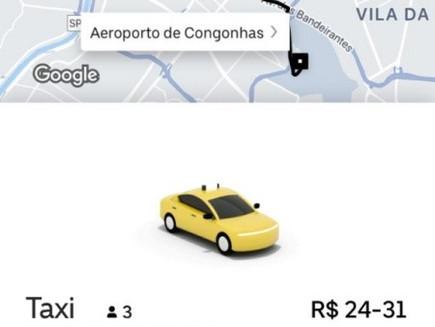 Peça Taxi pelo app do Uber no Brasil