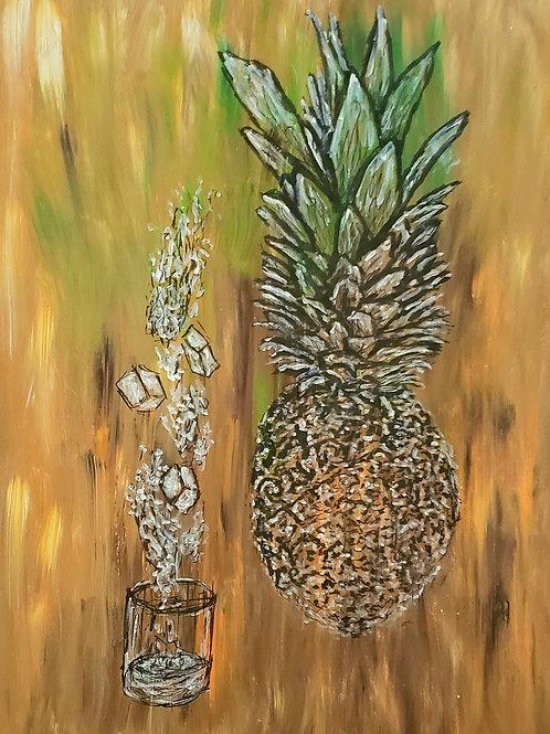 Trampoline Pineapple Juice, Original Painting