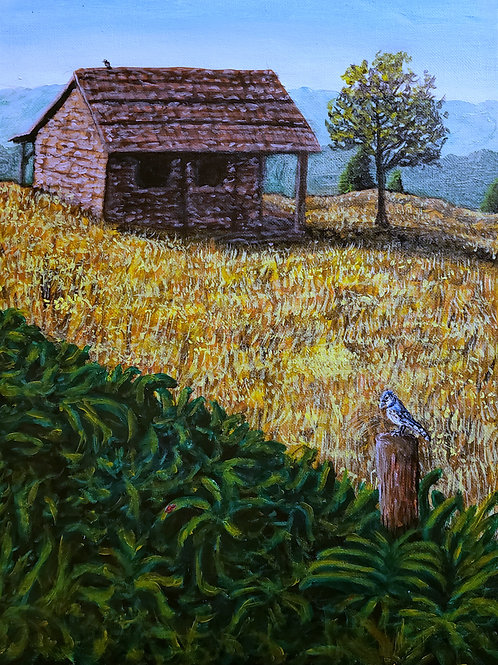 House On The Hill, Original Painting