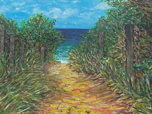 Walk To Sea, Original Painting