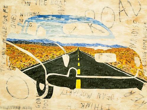 Kerouac On The Road, Original Painting
