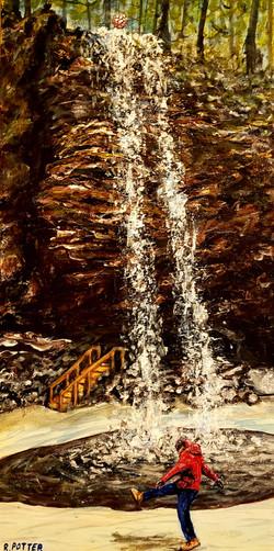 Kick Up The Waterfall