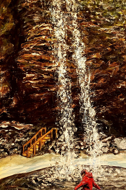Kick Up The Waterfall, Original Painting
