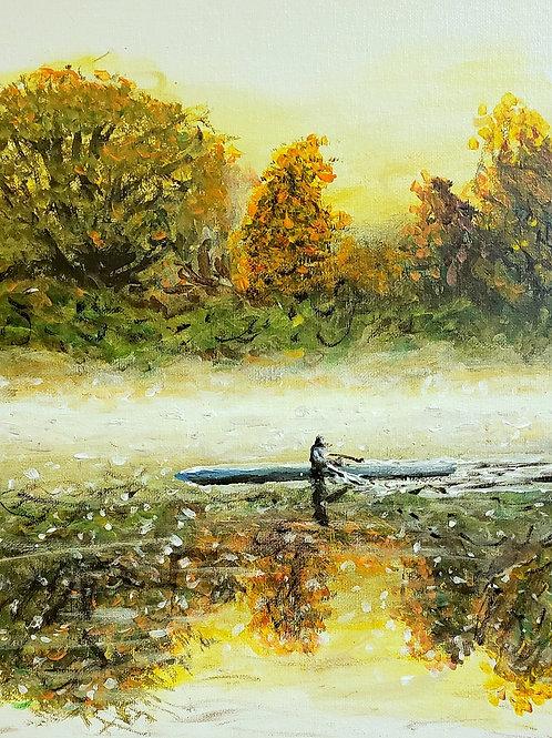 The Rower, Original Painting