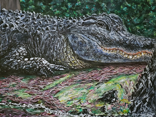 Alligator, Original Painting
