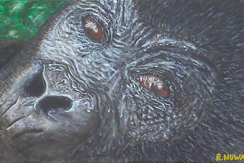 Curious Gorilla, Original Painting