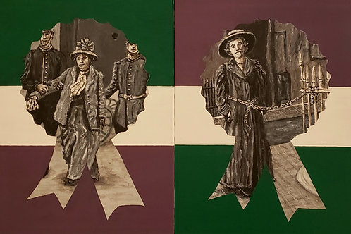 Up The Women Suffragettes, Original Painting