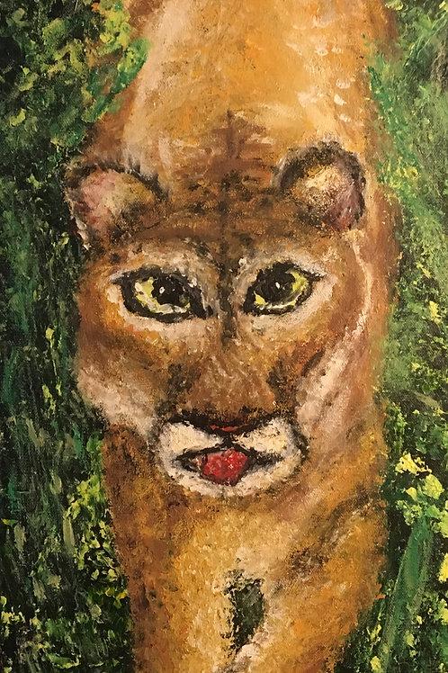 SOLD. Big Cypress Panther, Original Art