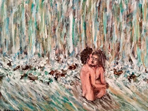Rock Pool Fool, Original Painting