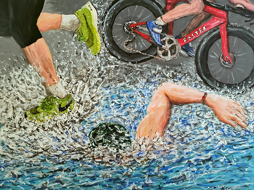 Triathlon, Original Painting