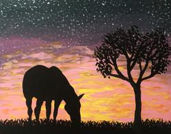 Horse Beneath Sunset