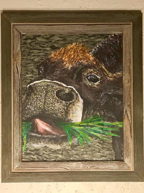 Kai The Cow, Framed Original
