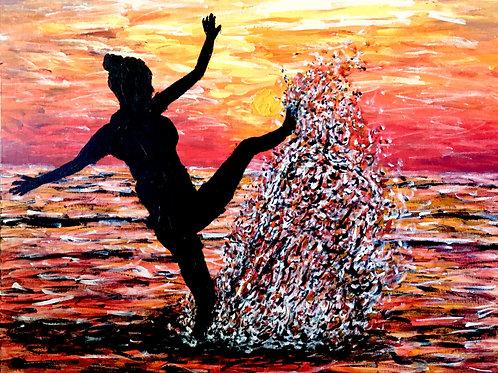 Dancing In The Ocean, Original Painting