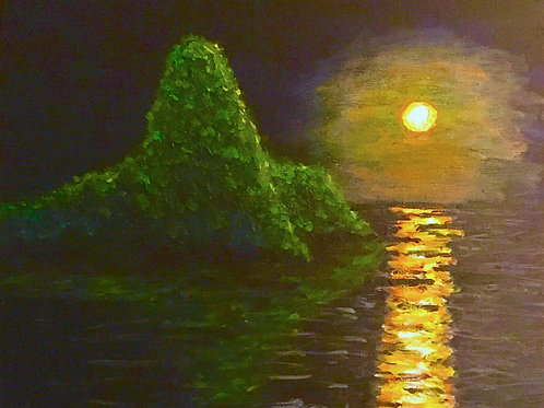 Ocean Moon, Original Painting