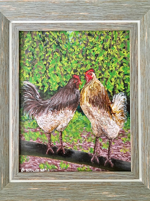 Chick Chat, Original Painting