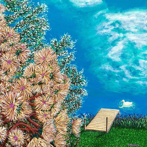 Ducks Lake, Original Painting