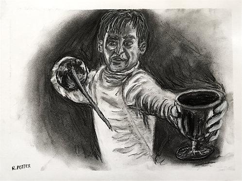 Hamlet Avenges His Father, Charcoal Original