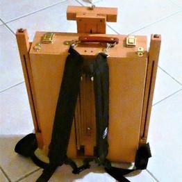 Easel backpack.