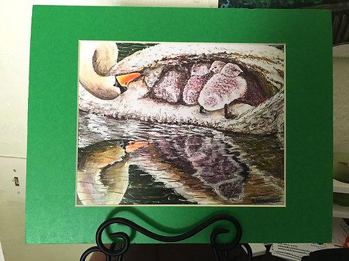 Mothering Swan Print