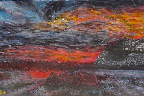 Seaside In Chaos, Original Painting