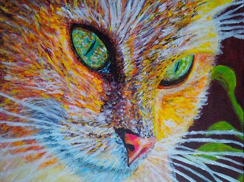 Meet The Puss, Original Painting