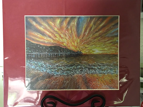 Sunset At Sea Print