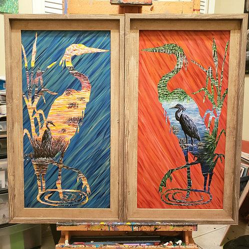 Herons, Original Paintings