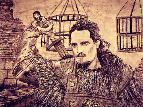 Uhtred of Bebbenburg, Original Charcoal Drawing